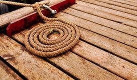 Spirale marina della corda Fotografia Stock