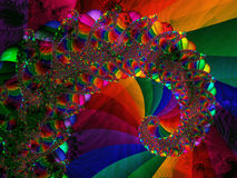 Spirale mit hellen Kristallfarben Stockfotos