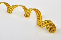 A spirale nastro di misurazione di forma Immagine Stock