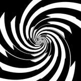 Spirale noire et blanche Photo stock