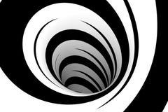Spirale noire et blanche abstraite Photo libre de droits