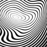 Spirale ondulata nera su bianco Immagini Stock