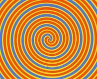 Spirale orange et jaune Image stock