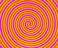 Spirale orange et jaune Photos libres de droits