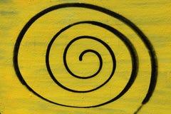 Spirale peinte par jet Photographie stock