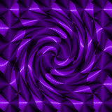 Spirale psichedelica porpora fotografia stock