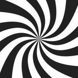Spirale psychédélique avec les rayons gris radiaux Rétro fond tordu par remous Illustration comique d'effet illustration libre de droits