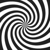 Spirale psychédélique avec les rayons gris radiaux Rétro fond tordu par remous Illustration comique d'effet illustration de vecteur