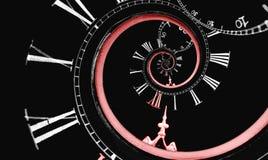 Spirale renversée de temps d'infini Images stock
