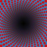 Spirale Rood Blauw Trillend Gekleurd Patroon Royalty-vrije Stock Afbeeldingen