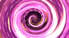 Spirale rosa di ipnosi rappresentazione 3d Fotografia Stock