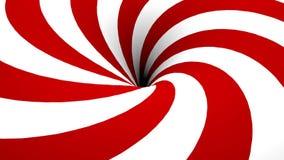 Spirale rossa e bianca astratta con il foro illustrazione vettoriale