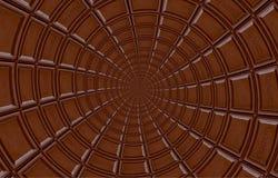 Spirale rotonda astratta del cioccolato al latte fatta della barra di cioccolato Estratto di rotazione Modello del fondo del cioc Fotografie Stock Libere da Diritti