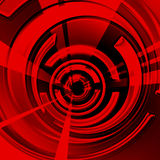 Spirale rouge Image libre de droits