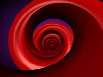 Spirale rouge Photos libres de droits