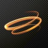 Spirale rougeoyante de remous du feu Effet de la lumière abstrait de vecteur Images stock