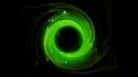 Spirale rougeoyante Le tunnel d'écoulement d'énergie Photo stock