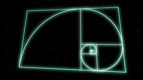 Spirale sacrée de la géométrie banque de vidéos