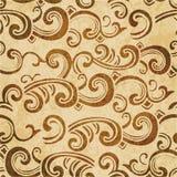 Spirale senza cuciture del fondo di retro dell'acquerello lerciume marrone di struttura Immagini Stock