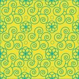 Spirale senza cuciture della decorazione del modello del fiore di bellezza di estate dell'estratto senza cuciture astratto del mo Immagini Stock