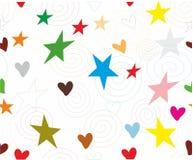 spirale senza cuciture della stella del cuore di struttura Fotografie Stock Libere da Diritti