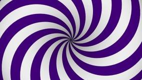 Spirale tournante de pourpre et blanche d'hypnose illustration de vecteur