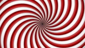 Spirale tournante de rouge et blanche d'hypnose Photographie stock libre de droits