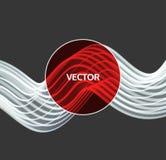 spirale Verbindungsstruktur Abstrakte Rastergestaltung Vektor 3d Illustration für Wissenschaft vektor abbildung