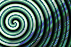 Spirale verdâtre Photo stock