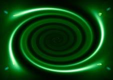 Spirale verde illustrazione vettoriale