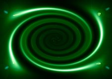 Spirale verde Fotografia Stock
