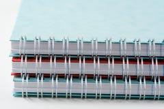 Spirale - verklemmte Jotters lizenzfreies stockbild