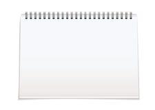 Spirale - verklemmte unbelegte Auflage vektor abbildung