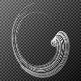 Spirale von Partikeln auf einem transparenten Hintergrund Glühlampe über Banknoten Auch im corel abgehobenen Betrag vektor abbildung