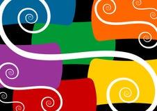 Spiralen auf buntem Hintergrund Stockfotografie