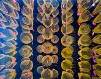 Spiralen des Weihrauchs in Quan Am-Pagode, Vietnam Stockfotografie