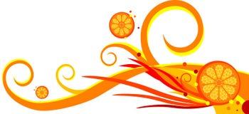 Spiralen en sinaasappel royalty-vrije illustratie