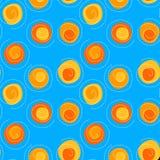 Spiralen en Zonnen naadloze patroonachtergrond Stock Fotografie
