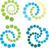 Spiralen in groen en blauw Royalty-vrije Stock Afbeelding
