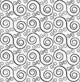 Spiralen naadloos patroon Royalty-vrije Stock Afbeelding
