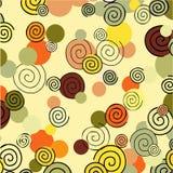 Spiralen op de de herfstachtergrond Royalty-vrije Stock Fotografie