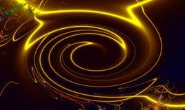Spiralen op een zwarte achtergrond royalty-vrije illustratie