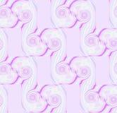 Spiralenpatroon in wit roze violet purper wit met rechthoekensering Stock Afbeeldingen