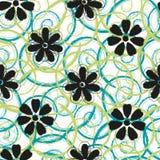 Spirales abstraites et conception sans couture de modèle de fleurs Photos libres de droits