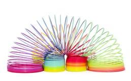 Spirales colorées de jouet Images stock