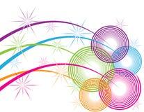 Spirales d'étincelle illustration de vecteur