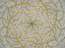 Spirales d'or Photos libres de droits