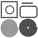Spirales de cadres de chaîne réglées illustration stock