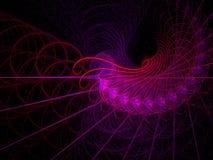 Spirales et remous d'un rouge ardent Photo libre de droits