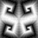 Spirales monochromes sans couture des rectangles Illusion optique de perspective et de volume Approprié au web design Photographie stock libre de droits